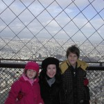 With my children on top of the Eiffel Tower, December, 2007